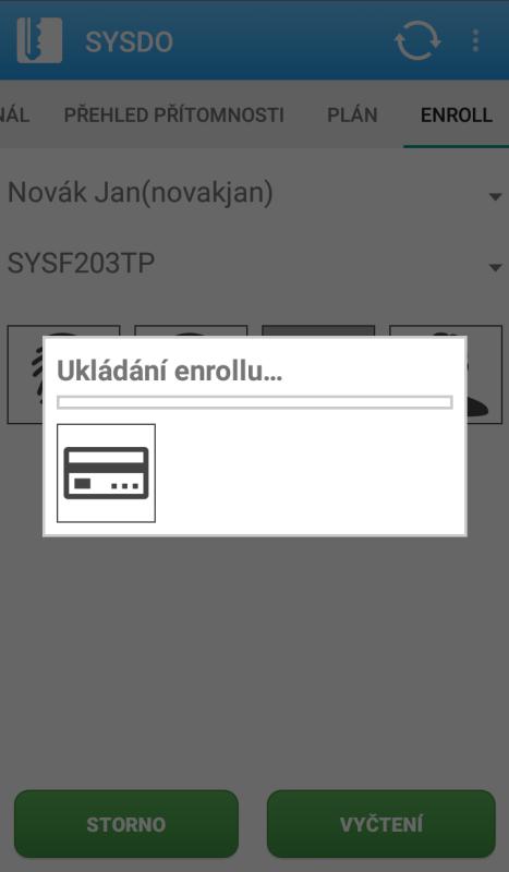 Po úspěšné registraci klikněte na tlačítko Vyčtení