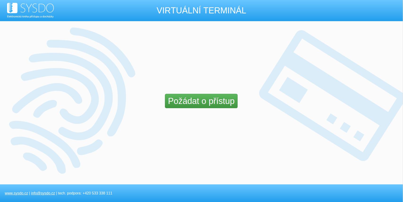 Požádejte o přístup do veřejného virtuálního terminálu